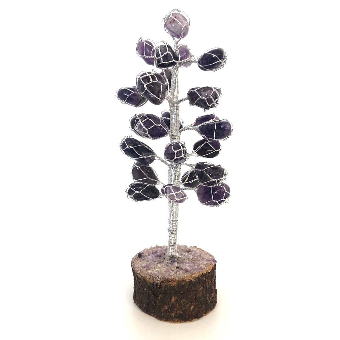 Amethyst tumbled stone tree 14 - Amethyst tumbled stone tree