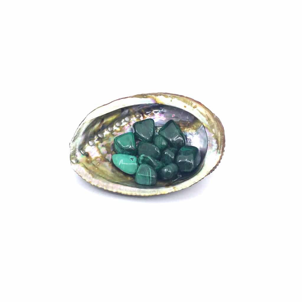 Fortune crystals_malachite_tumbled