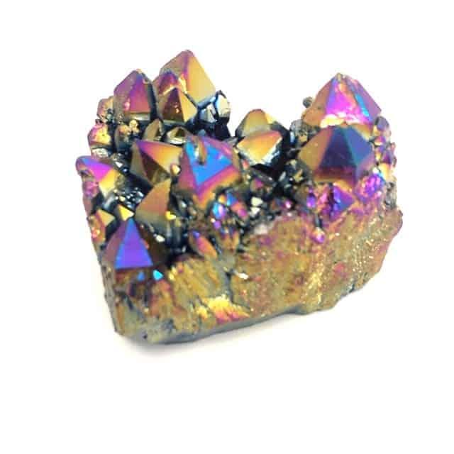 Crystal rainbow plated cluster