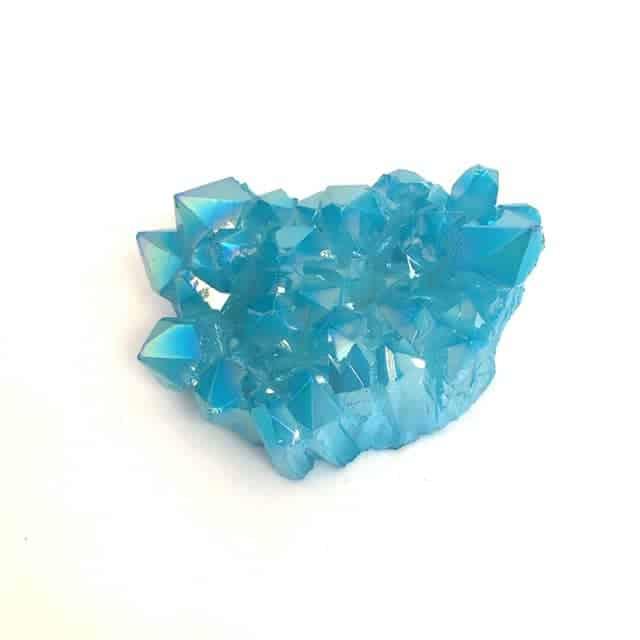 Aqua aura crystal cluster