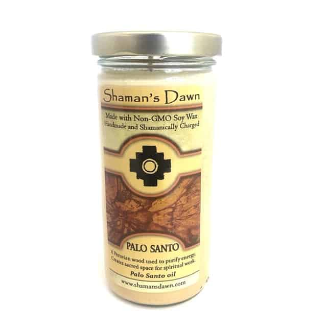 Shamans dawn palo santo candle