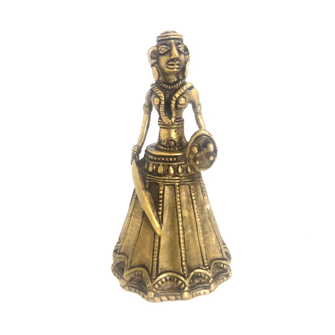 Warrior statue bell