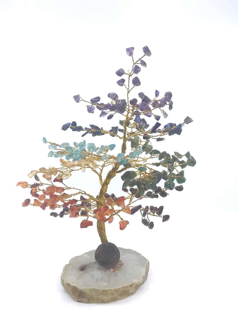 fortunecrystals amethyst - 7 Chakra Tree