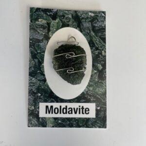 IMG 5019 300x300 - Moldavite wire wrap pendant medium