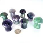 fortunecrystals_fluorite_mushrooms w quarter